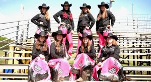 Members of the Pink Ribbon Rebels are (left to right): FRONT – Hayley Verbeten, Niamh Sexton, Gracie Willson, Lorna Caswell; BACK – Shaylan Willson, Carley Pipper, Morgan Caswell and Cierra Verbeten. Submitted Photo